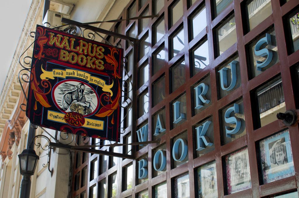 Librería Walrus, en San Telmo como en Londres