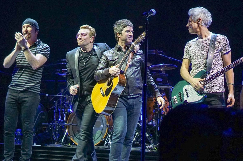 "U2 y Noel Gallagher tocaron juntos ""Don't Look Back in Anger"""